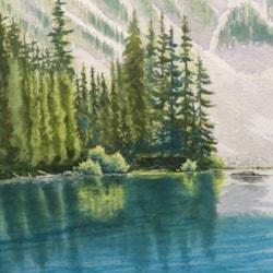 A Corner of Lake Louise