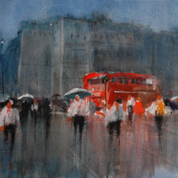 A Rainy Day in London Town 110x20-300dpi