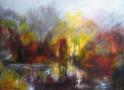 AT THE END OF THE RIVER- OIL - UNFRAMED - 67X48cms