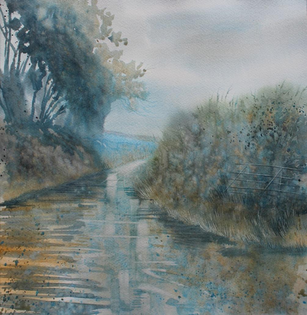 A Wet Cornish Lane 72