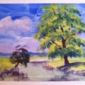 Acrylic Landscape (spot the face)