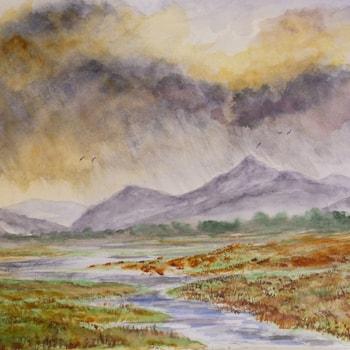 Afon Glaslyn Porthmadog - Big Skies 72dpi
