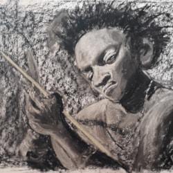 African Lady - Tonal Study in Charcoal - April 2020