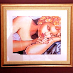 After Lempicka-sleeping woman-framed