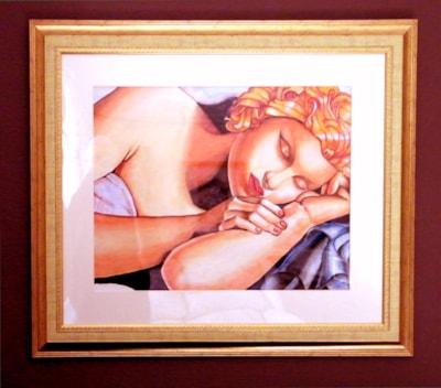 After Lempicka-sleeping woman-framed