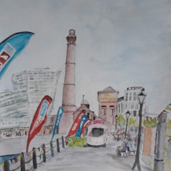 Albert Dock, Liverpool - Summer 2018 - Watercolour