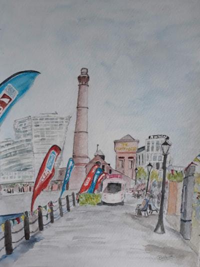 Albert Dock, Liverpool - Summer 2018 - Watercolour