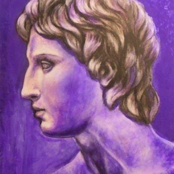 Alexander,acrylic, cardboard, 39 X 50