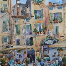 Amanda Brett watercolour artist double dipping Lucca Italy sm
