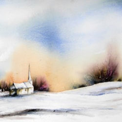 A new day, watercolour by Graham Kemp.
