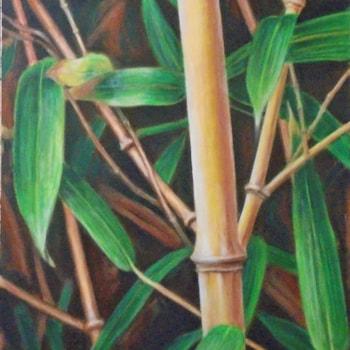 Bamboo. Acrylic on canvas, 67 x 99 cm