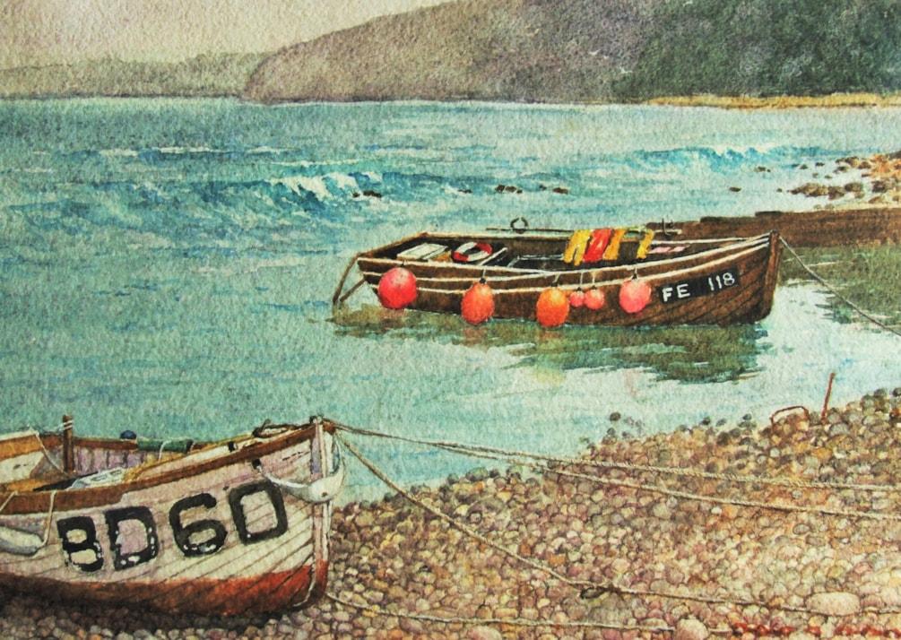 Boats at Clovelly 2