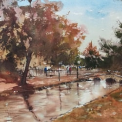 Bourton on the water 11x15