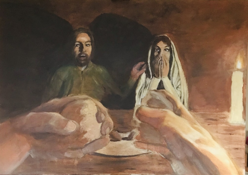 Breaking bread at Emmaus Apr 20 nfs aoc 16x30
