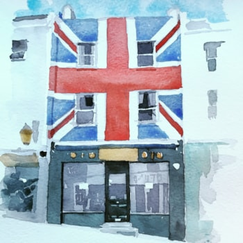 Brighton shopfront watercolour