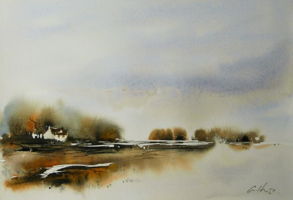 Burnt, watercolour painting by Graham Kemp