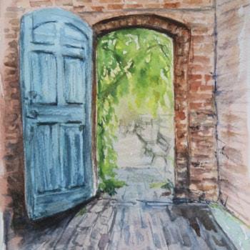 Calke garden door