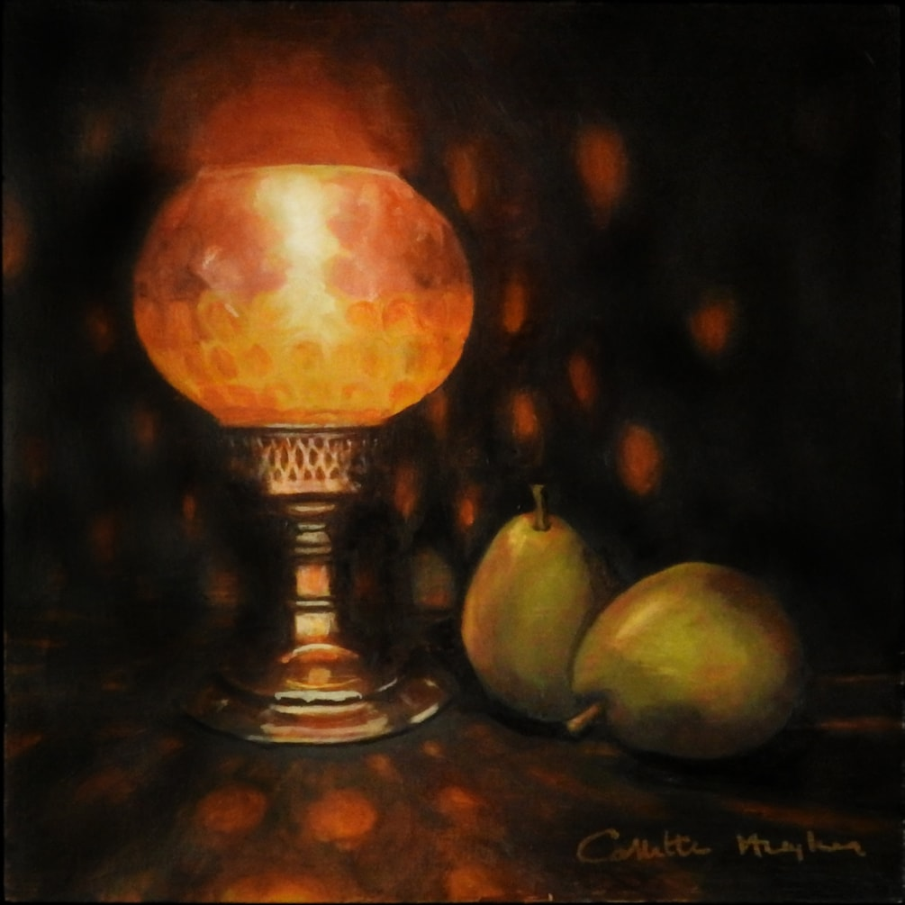 Candle Lamp with Pears_Collette Hughes_2020