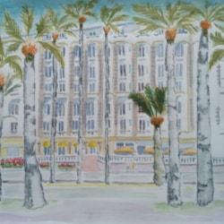 Cannes blue sky