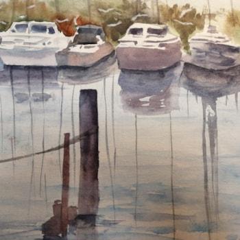 Castiglione del Lago boat yard - watecolor cm 35 x 35.jpg