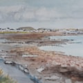 Castletown from Scarlett Point - Watercolour