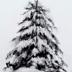 Charcoal Christmas Tree