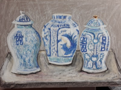 Chinoiserie - Oil Pastel - March 2020