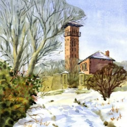 Cleadon Tower in the Snow