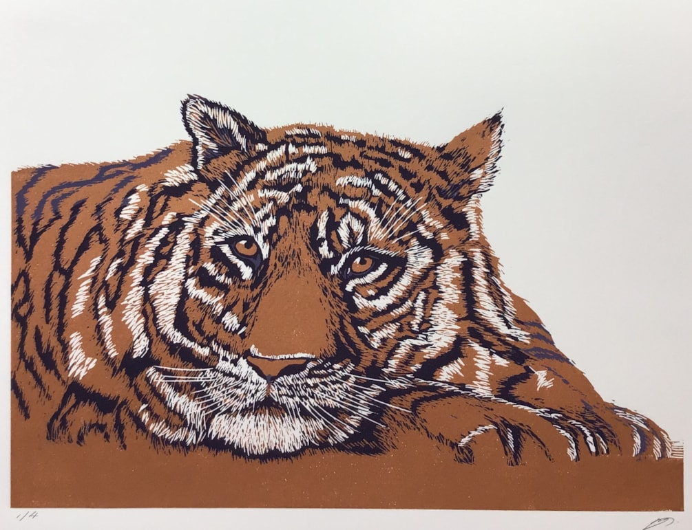 Copper tiger by Margaret Mallows