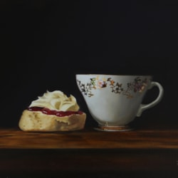 Cornish Cream Tea painting