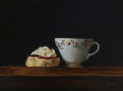Cornish Cream Tea painting