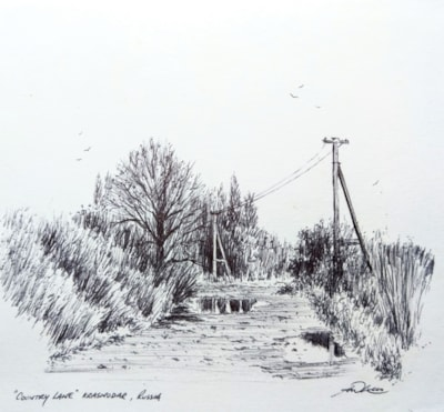 Country Lane sketch, Kraasnodar.1