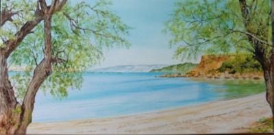 Cretan beach scene