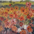 Dahlias - Oil - 24th May 2020