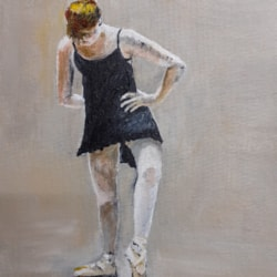 Dancer - Acrylic on Canvas Board 12th March 2021