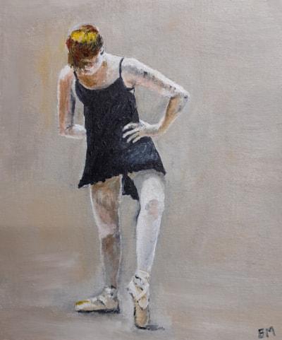 Dancer - Acrylic on Canvas Board 12th March 2021