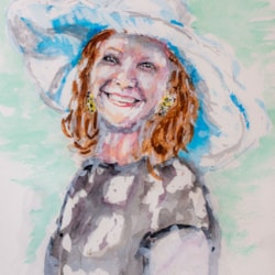 Debbie with a big hat  '21-1