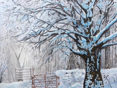 Easdale. Watercolour by John Shipley