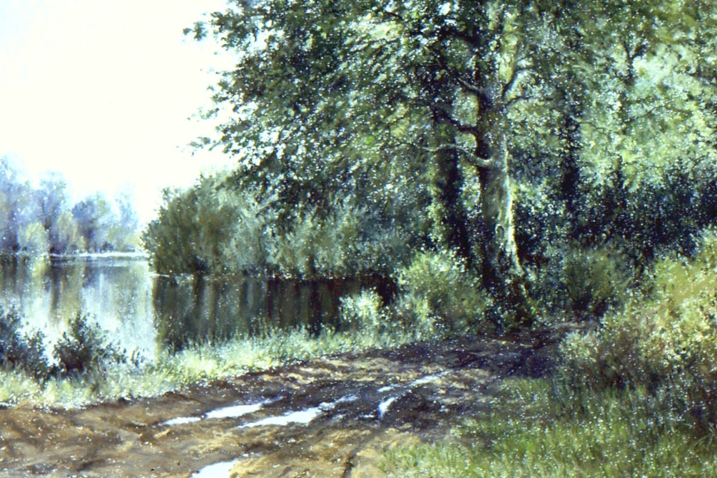 Emborough Pond pastel POL