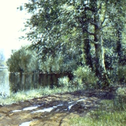 Emborough Pond pastel POL