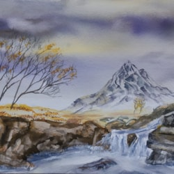 Etive Mor Waterfall Glencoe Dec 20 dm 72dpi