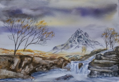 Etive Mor Waterfall Glencoe Dec 20 dm 72dpi