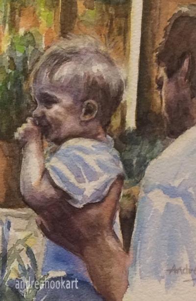 Family Bubbles - David portrait ws