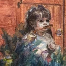 Family Bubbles - Ella portrait ws