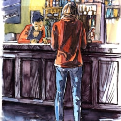 Figure at the bar 1
