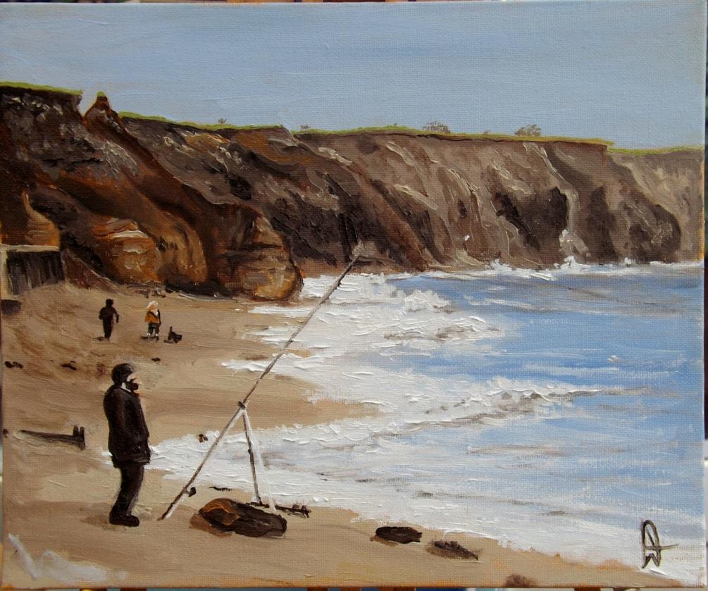 Fishing at Seaham