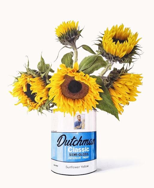Five Sunflowers