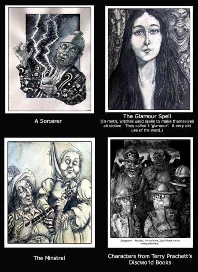 Four more fantasy sketches-small