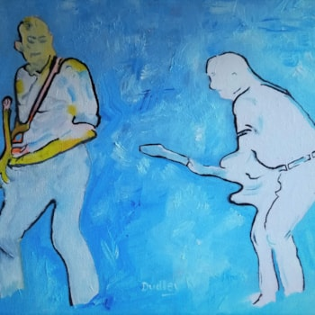 Francis Rossi and the late Rick Parfitt