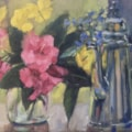 Garden Flowers with Coffee Pot